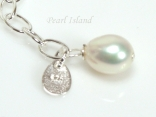 White Pearl & Sterling Silver Extension Chain
