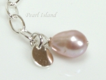 Lavender Pearl & Sterling Silver Extension Chain