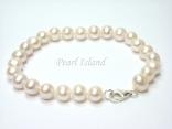 Classic White Roundish Pearl Bracelet 6-7mm