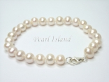 Bridal Pearls - Classic White Roundish Pearl Bracelet 7-8mm