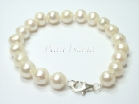 Classic White Roundish Pearl Bracelet 8-8.5mm