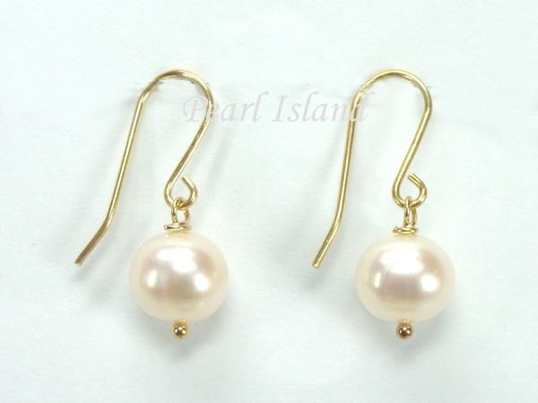 9ct Gold Pearl Teardrop Earrings rx9GB6MXa