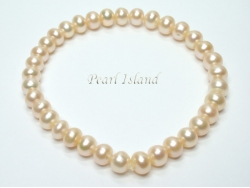 Classic Peach Roundish Pearl Bracelet 5-6mm
