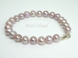 Classic Lavender Roundish Pearl Bracelet 6-7mm
