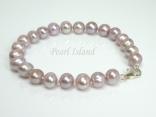 Classic Lavender Roundish Pearl Bracelet 6-7mm