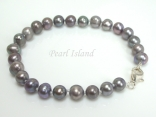 Classic Grey Pearl Bracelet with Small Freshwater Pearls 5-6mm