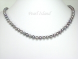 Classic Grey Pearl Necklace with Small Freshwater Pearls 5-6mm