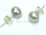 Classic Grey Pearl Stud Earrings 7-7.5mm