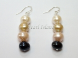 Harmony Sandy LBW Roundish Pearl Earrings 8-8.5mm
