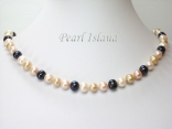 Harmony Sandy LBW Roundish Pearl Necklace 8-8.5mm