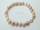 Harmony Lavender Peach White Roundish Pearl Bracelet_7-8mm