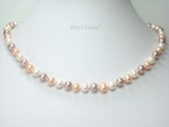 Harmony Lavender Peach W Roundish Pearl Necklace_6-7mm