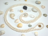 56 Inch Countessa White Circle Pearl Long Rope Necklace 8-9mm
