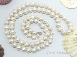 36 Inch Countessa Long Rope Pearl Necklace 9mm White