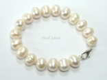 Bridal Pearls - Countessa White Freshwater Circle Pearl Bracelet 9-10mm