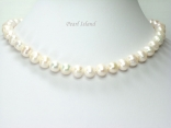 Countessa White Freshwater Circle Pearl Necklace 9-10mm