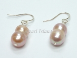 Countessa Lavender Baroque Pearl Earrings 7x9mm