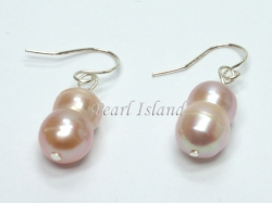 Countessa Lavender Baroque Pearl Earrings 7x9mm