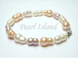 Countessa Lavender PW Baroque Pearl Bracelet 7x9mm