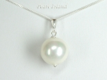 Utopia White Shell Pearl Pendant 14mm