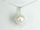 Bridal Pearls - Utopia White Shell Pearl Pendant 14mm