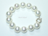 Utopia White Shell Pearl Bracelet 14mm