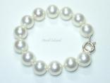 Utopia White Shell Pearl Bracelet 14mm
