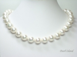 Utopia White Shell Pearl Necklace 14mm