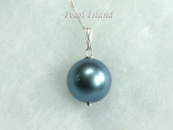 Utopia Blue Shell Pearl Pendant 14mm