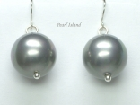 Utopia Silver Grey Shell Pearl Earrings