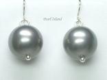 Utopia Silver Grey Shell Pearl Earrings
