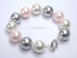 Utopia Pink Grey White Shell Pearl Bracelet