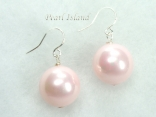 Utopia Pink Shell Pearl Earrings