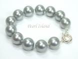 Utopia Silver Grey Shell Pearl Bracelet