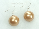Utopia Golden Shell Pearl Earrings