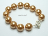 Utopia Golden Shell Pearl Bracelet
