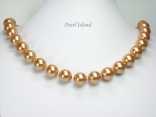 Utopia Golden Shell Pearl Necklace