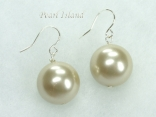 Utopia Pale Olive Shell Pearl Earrings