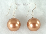 Utopia Brown Shell Pearl Earrings 14mm
