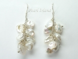 Princess White Keshi Pearl Earrings 8-9mm