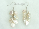 Princess Ivory Keshi Pearl Earrings 8-9mm