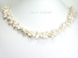 Princess 2-Row Ivory Keshi Pearl Necklace 5-9mm