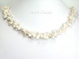 Princess 2-Row Ivory Keshi Pearl Necklace 5-9mm