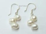 Elegance White Oval Pearl Earrings