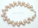 Elegance Lavender Oval Pearl Bracelet 6-7mm