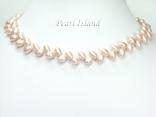 Elegance Lavender Oval Pearl Necklace 6-7mm