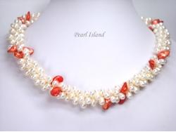 Elegance 3-Row RW Pearl Necklace
