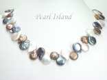Art Deco Brown WB Coin Pearl Necklace