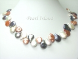 Art Deco Chocolate GW Coin Pearl Necklace