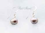 Enchanting Grey Baroque Pearl Earrings